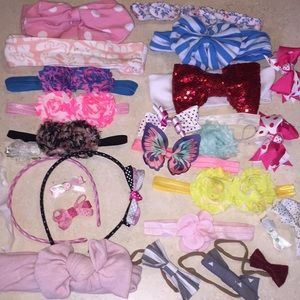 25+ Bows and Headbands - Huge Lot To s of Colors